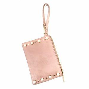 Steve Madden Light Pink Pearl Wristlet